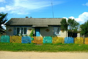 Жилой дом на границе с РФ