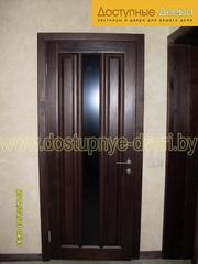 Двери,  аркимежкомнатные из массива дуба,  сосны, ольхи по индивидуальным