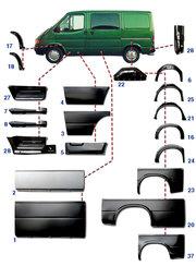 Кузовные автозапчасти Форд Транзит 1986-2006