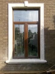 Обрамление окна из искусственного мрамора