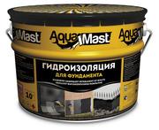 Мастика кровельная и гидроизоляционная битумно-резиновая AquaMast 10кг