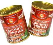 ГОСТ Свинина  консервы  мясн.к усков. стер. 1с (338гр.)