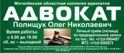 Адвокат в Могилеве Полищук О.Н.,  юридическая помощь,  защита
