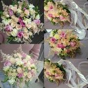 Свадебные букеты.Розы, букеты, композиции.Доставка цветов.